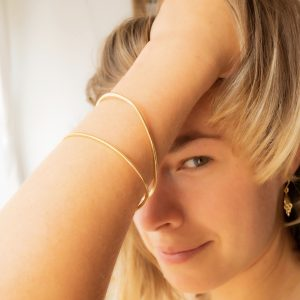Organic shaped bangles